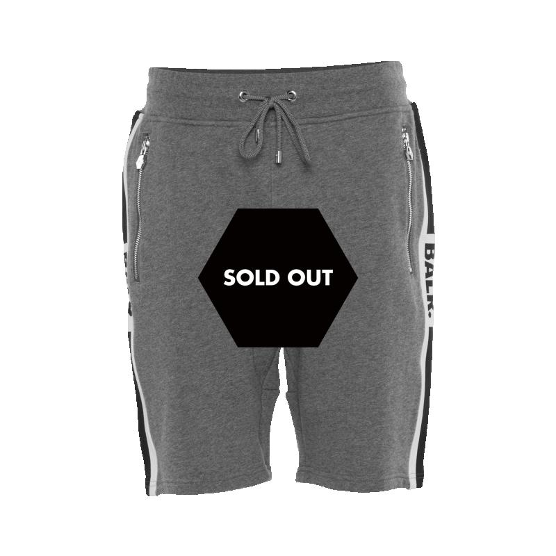 Webbing-Trimmed Shorts Grey