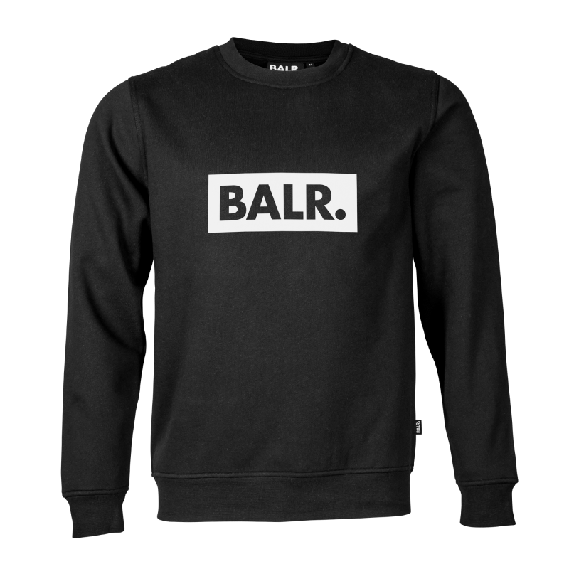 Black Crew Neck Club Sweater Front