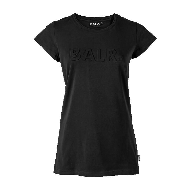 Black Embossed Women Shirt Front