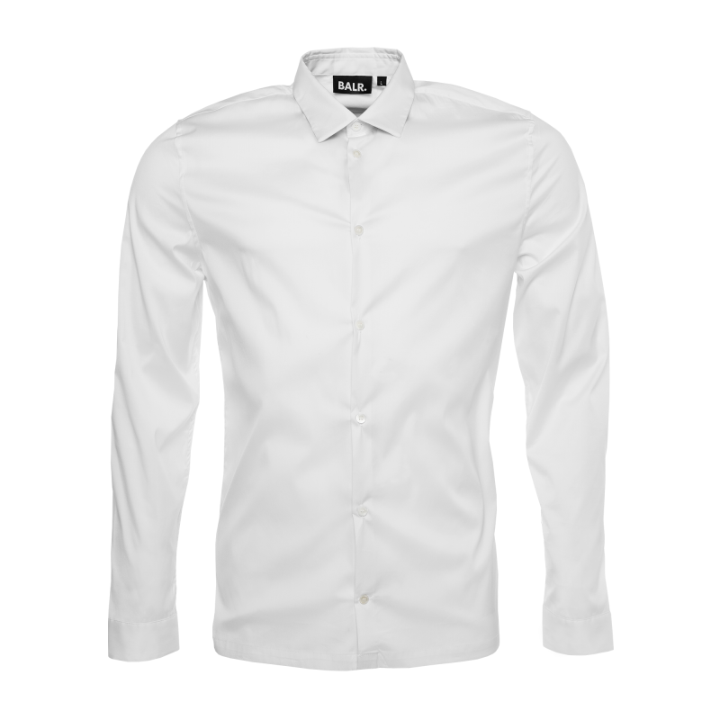 White Slim-Fit Formal Shirt Front