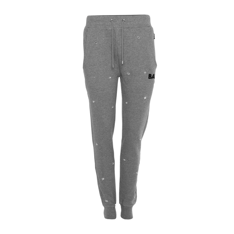 Women Distressed Sweatpants Grey Front