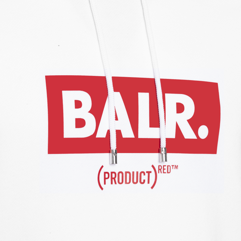 BALR. (BALR.)RED Club Hoodie White Detail 1