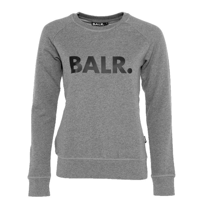 Voorkant Women Brand Crew Neck Sweater Grijs