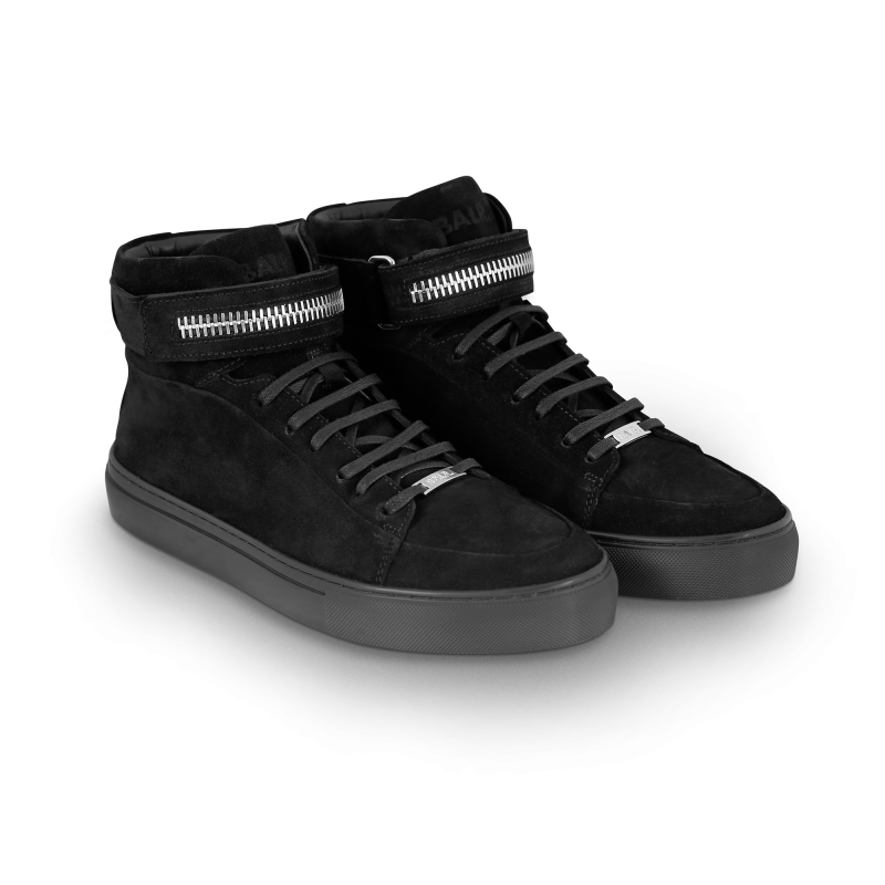 Black Suede Sneaker Front