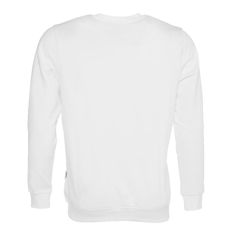 Achterkant BALR. Brand Crew Neck Sweater Wit
