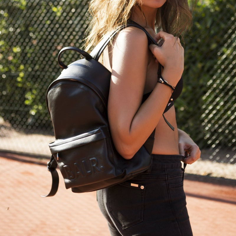 Leather Petite Backpack Lifestyle