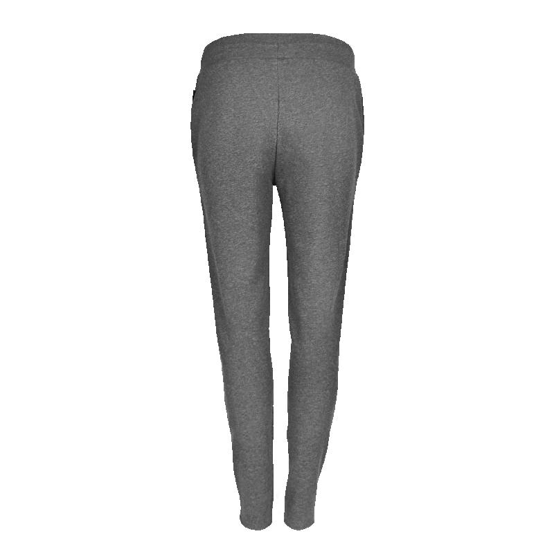 Grey Zipped Sweatpants Women Back
