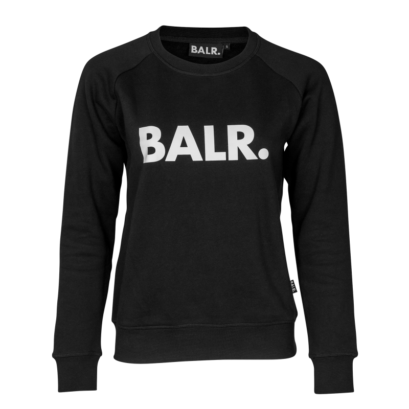 Black Crew Neck Women Front