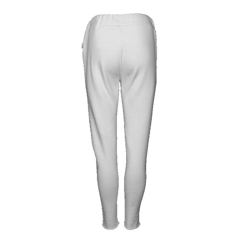 Women Sweatpants Back White