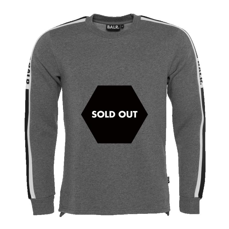 Webbing-Trimmed Sweater Grey