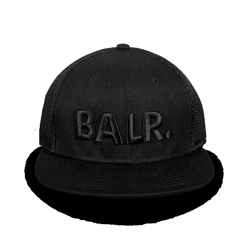 Brand Cotton Mesh Cap Black On Black Front