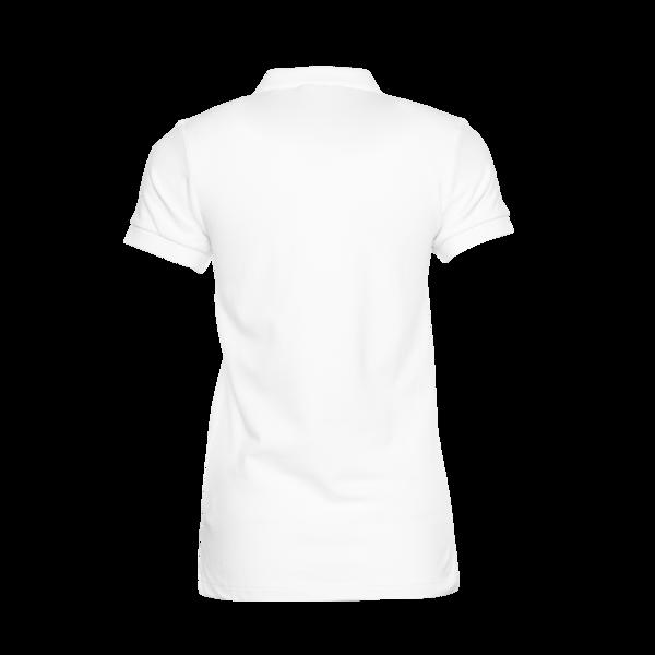 Achterkant Brand Polo Shirt Women Wit