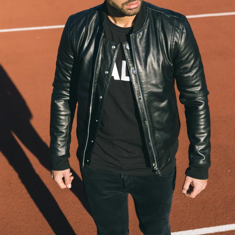 Leather Bomber Jacket Lifestyle