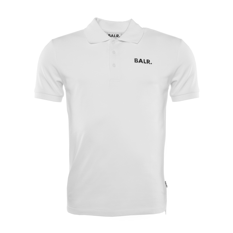 White Brand Plate Polo Front
