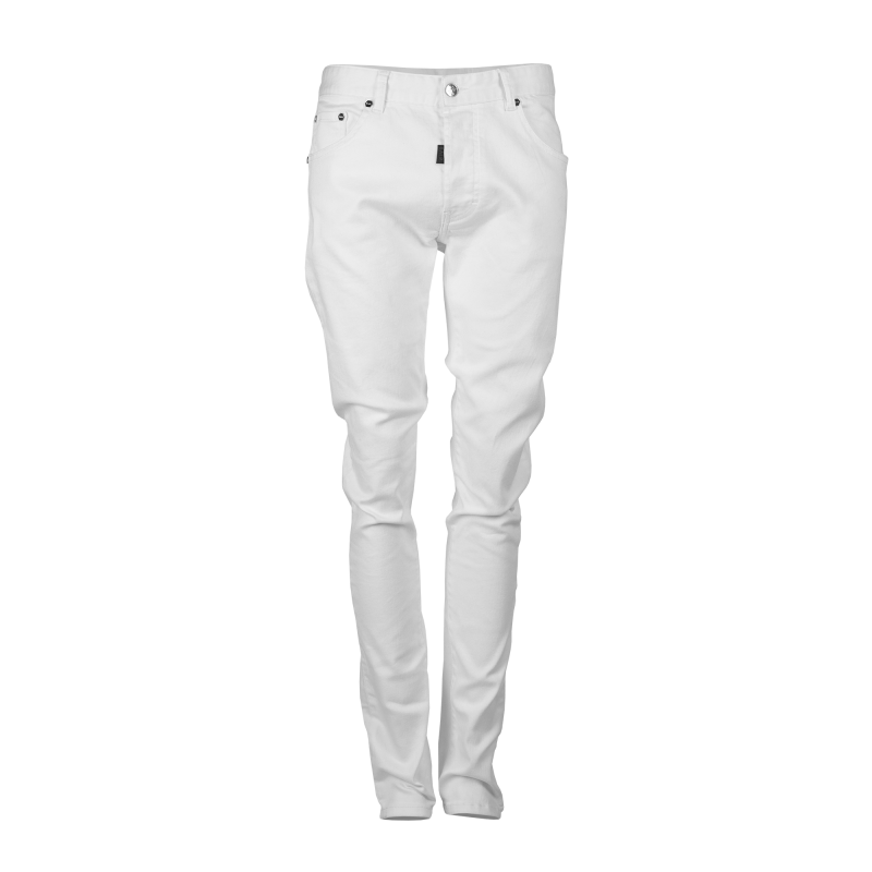White Denim Jeans Front