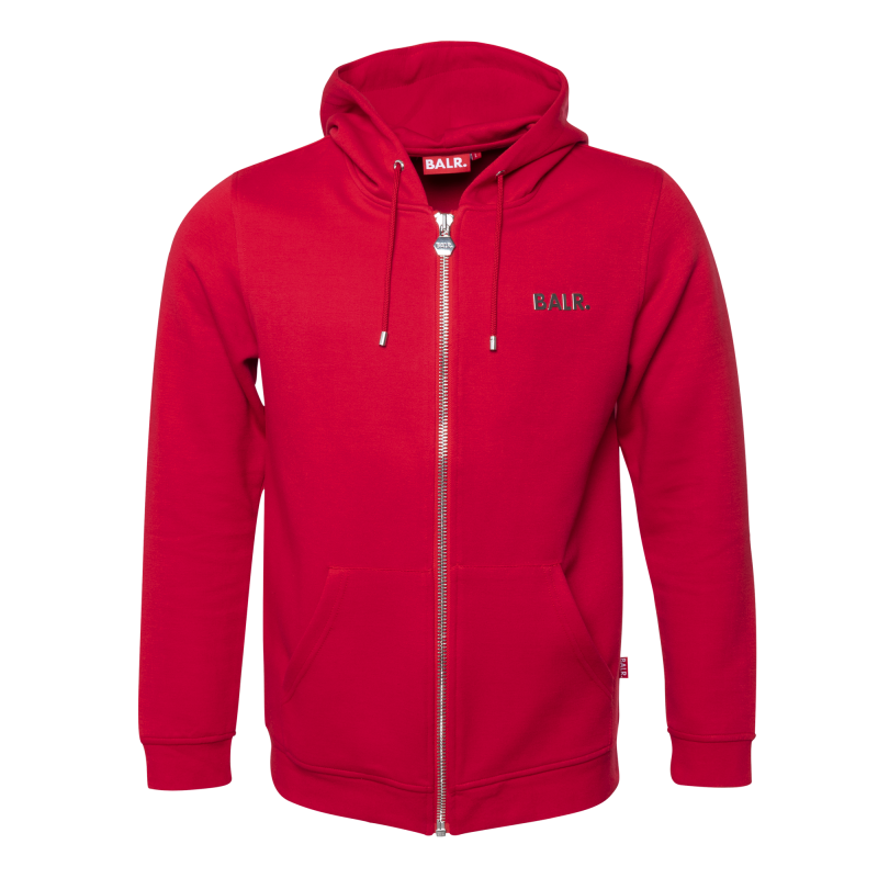 BALR. (BALR.)RED Q-Series Zipped Hoodie Red Front