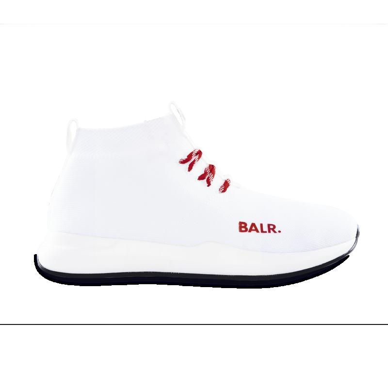 BALR. (BALR.)RED EE Premium Sock Sneakers V2 White Front