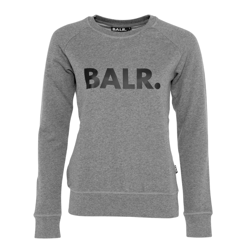 Women Brand Crew Neck Sweater Grey