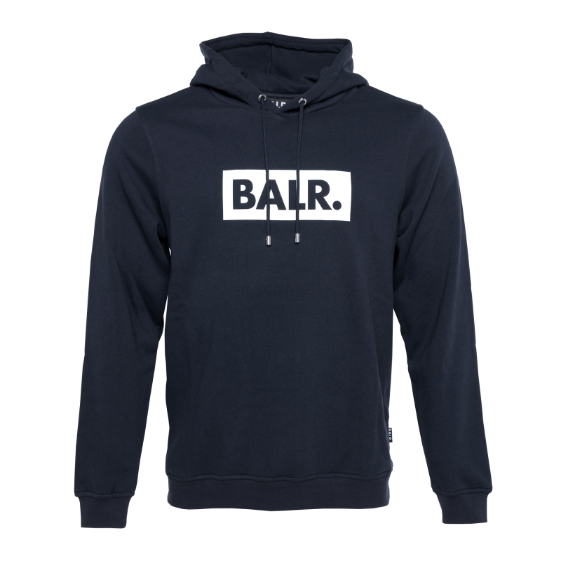 BALR. Club Hoodie Navy Blue Front