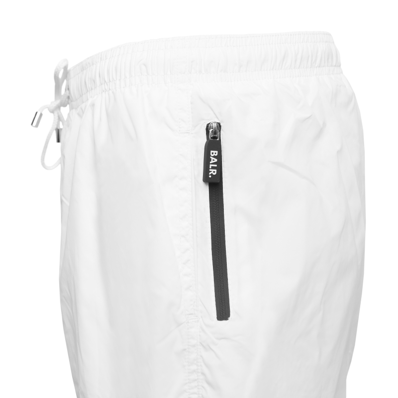 White Classic Swim Shorts Logo