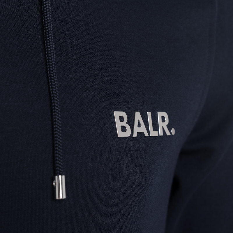 BALR. Q-series Zipped Hoodie Navy Detail
