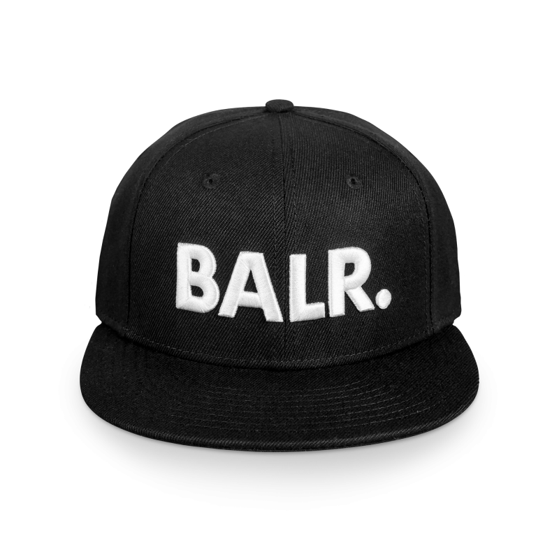 Brand Cotton Cap Black Front