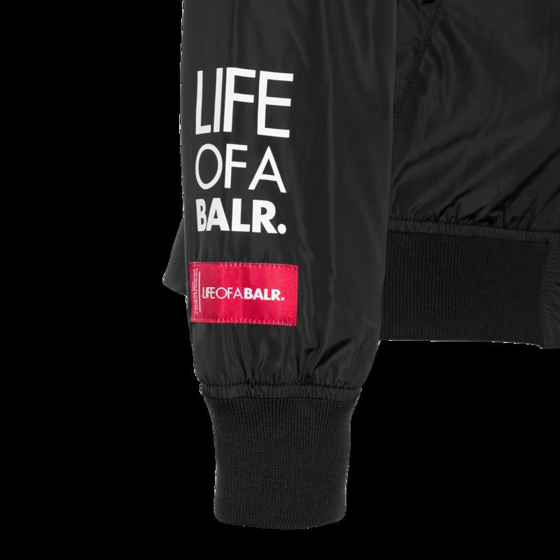 BALR. embroidered bomber jacket Zwart