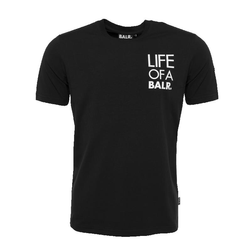 Life Of A BALR. Logo T-Shirt Black