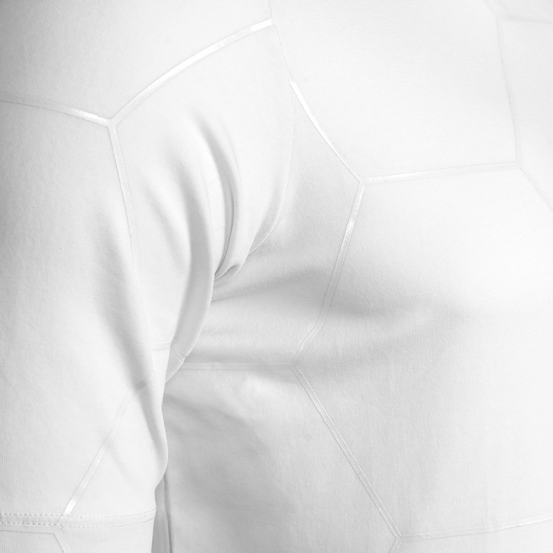 White Signature Panel Shirt Detail