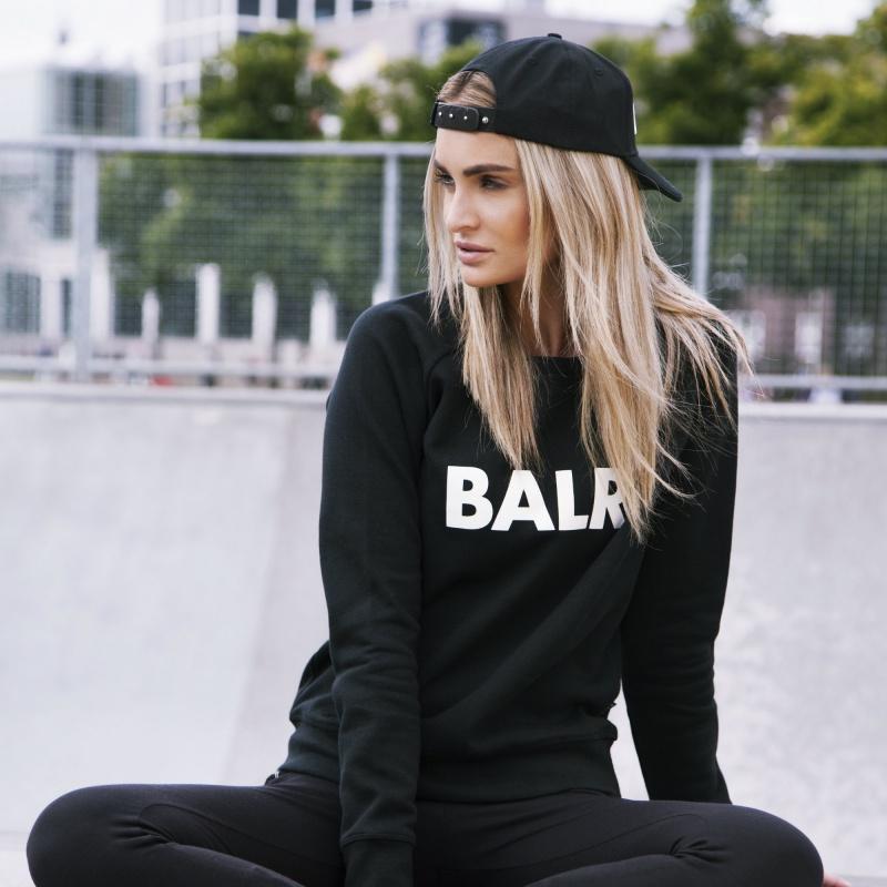 Levensstijl Women Brand Crew Neck Zwart
