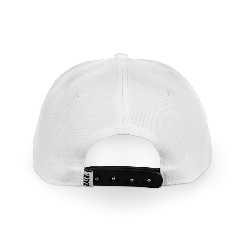 Brand Cotton Cap White Back