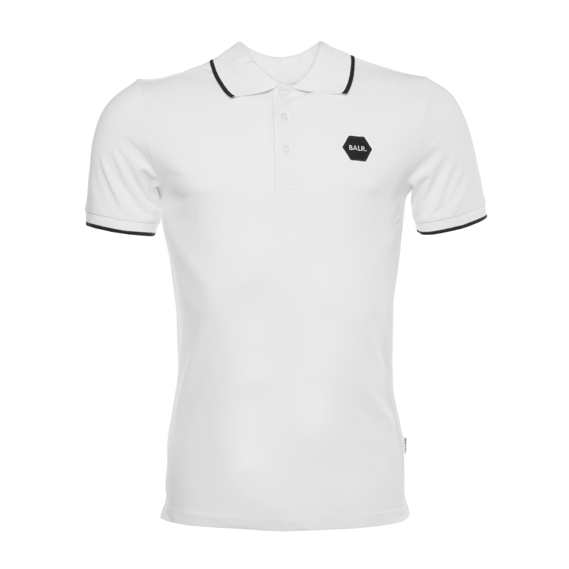 White Badge Polo Front