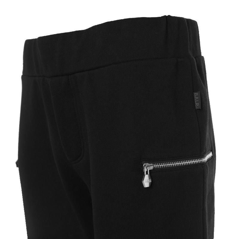Black Zipped Sweatpants Pocket