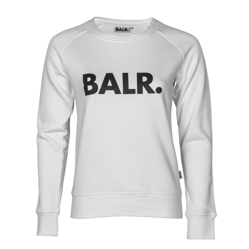Women Brand Crew Neck White Front