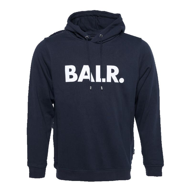 BALR. Brand Hoodie Navy Blue Front