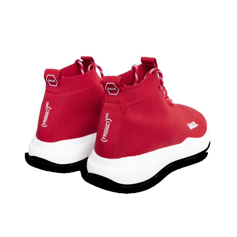 BALR. (BALR.)RED EE Premium Sock Sneakers V2 Red Back