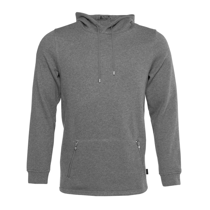 Grey Zipped Pocket Hoodie Front