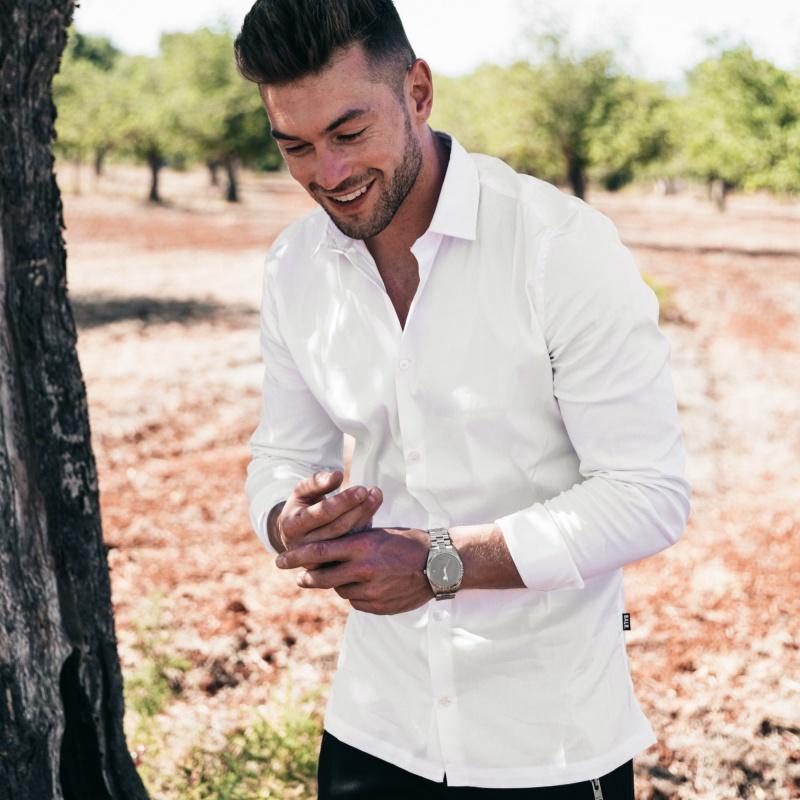 White Slim-Fit Formal Shirt Lifestyle