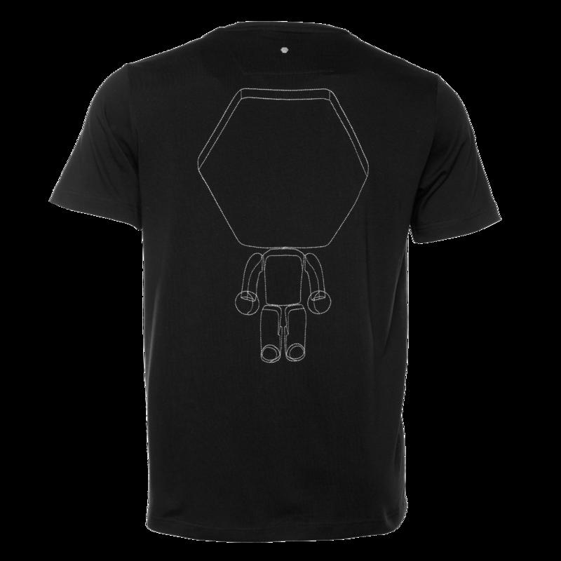 BALR. Hexagon Doll Straight T-Shirt Black