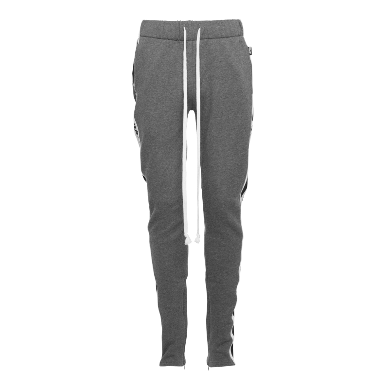 Webbing-Trimmed Sweatpants Grey