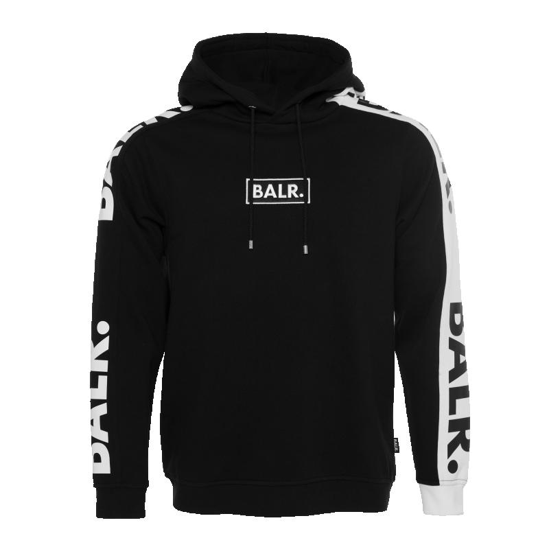 BALR. Contrast Hoodie Black Front