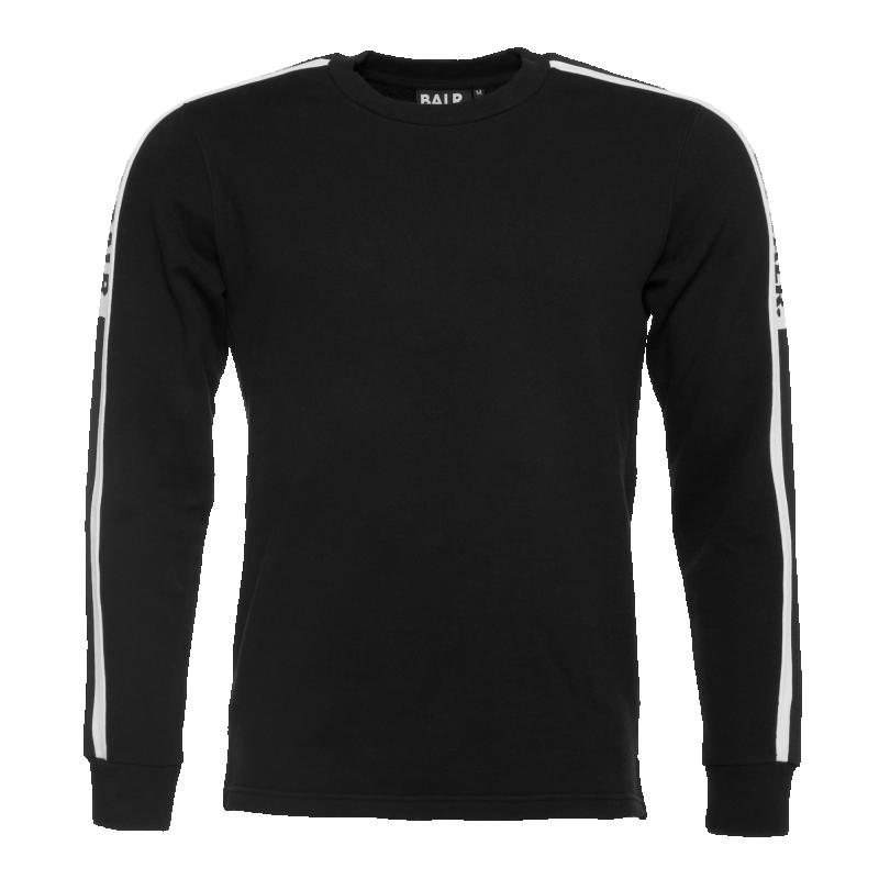 Webbing-Trimmed Sweater Black
