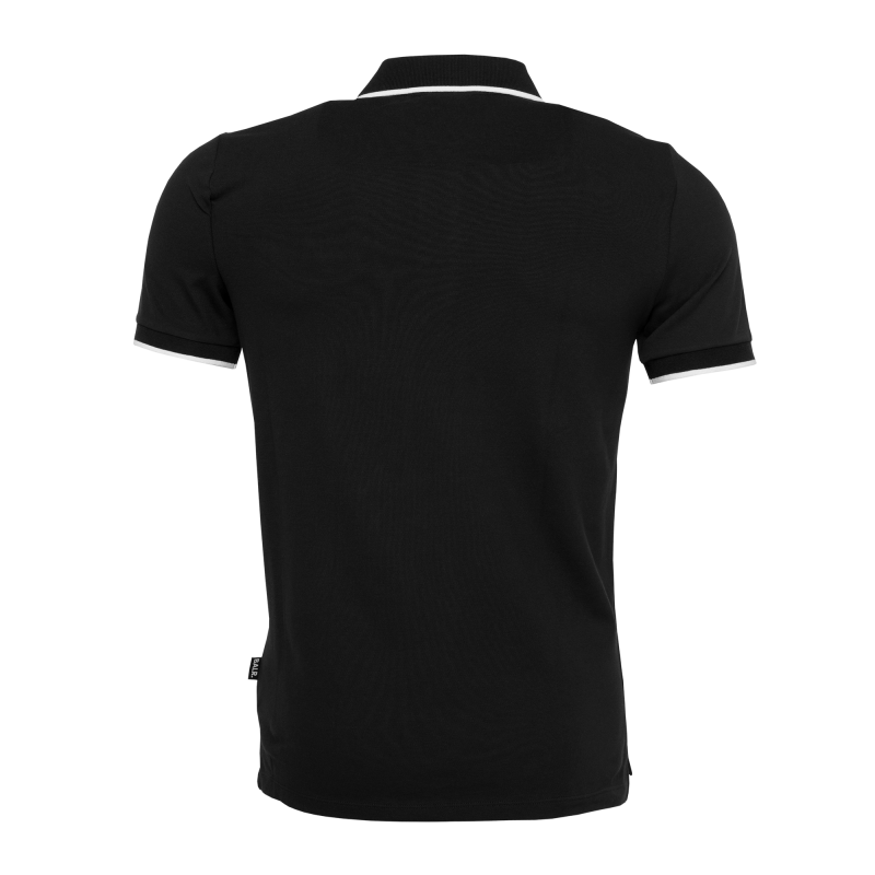 BALR. Brand Metal Logo Polo Shirt Black Back
