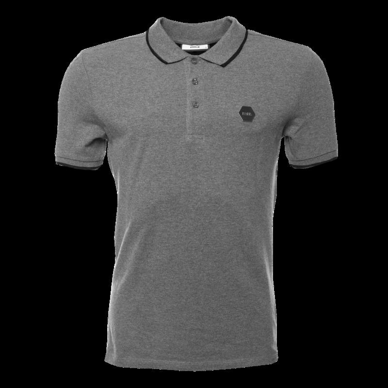 BALR. Hexagon Badge Polo Shirt Grey Grey