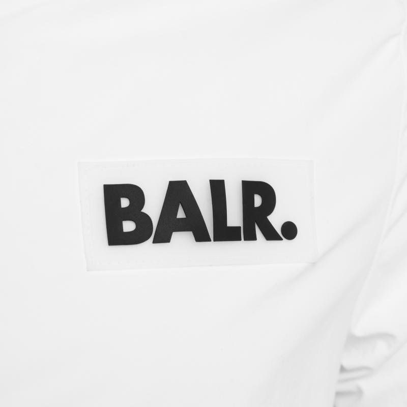 rubber logo jacket blanc | le site officiel balr. découvrez la