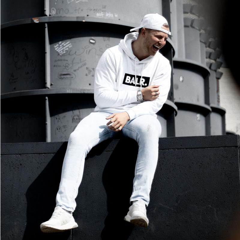 BALR. White Club Hoodie Lifestyle