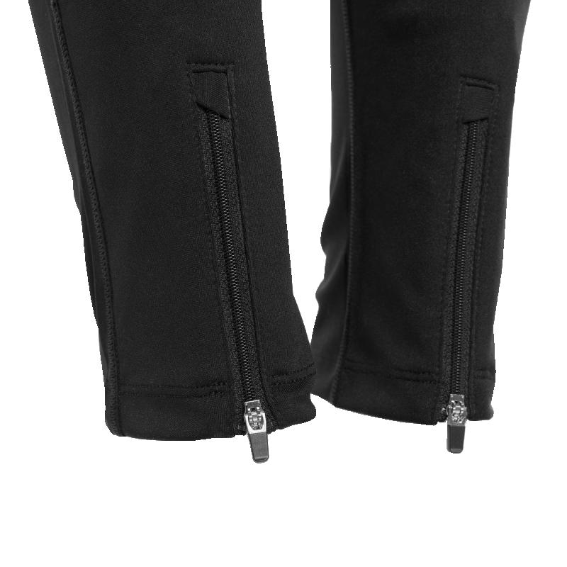 Workout Pants Black Zipper