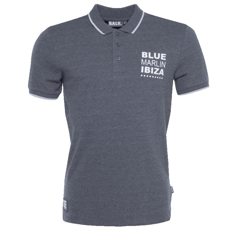 BALR. x BMI Polo Shirt Grey