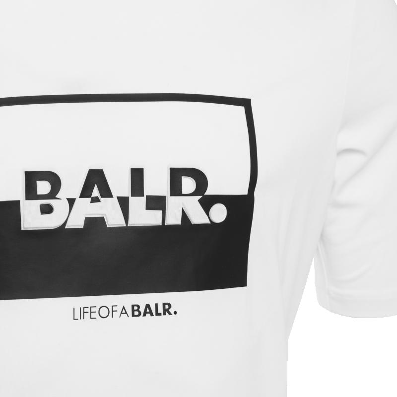 contrasting logo t-shirt blanc | le site officiel balr. découvrez la