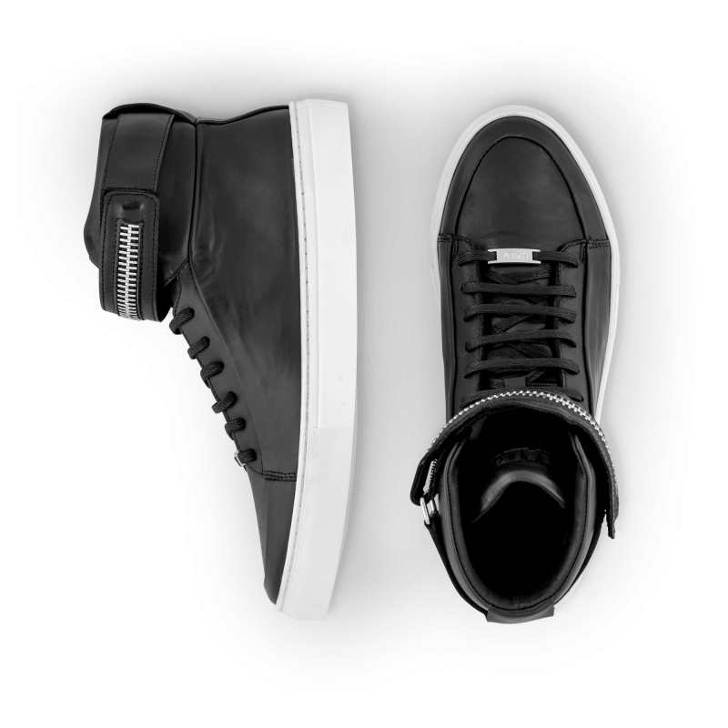 Black And White Leather Sneaker Detail